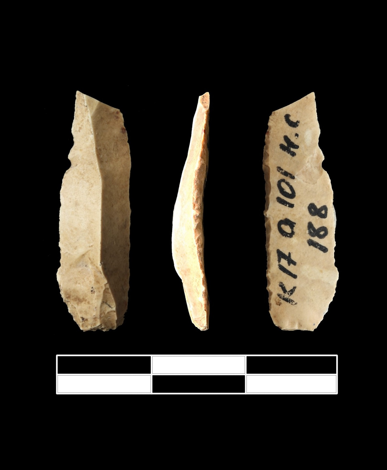 A 41,000-year-old bladelet tool from Kostënki 17. The critical comment claimed that this artefact may not to belong to the Spitsynian Layer II–in fact, there is no reason to question its Layer II attribution.